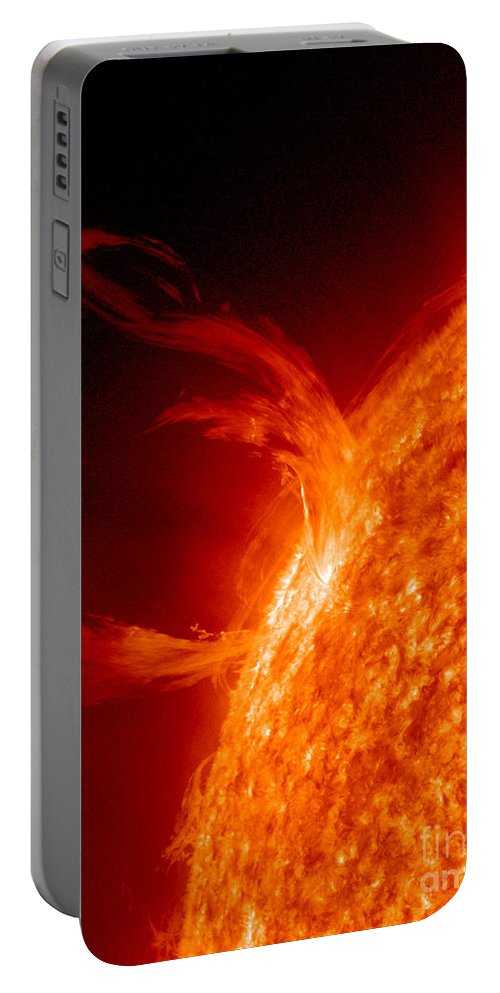 Eruptive Prominence Portable Battery Charger featuring the photograph Solar Prominence by Science Source