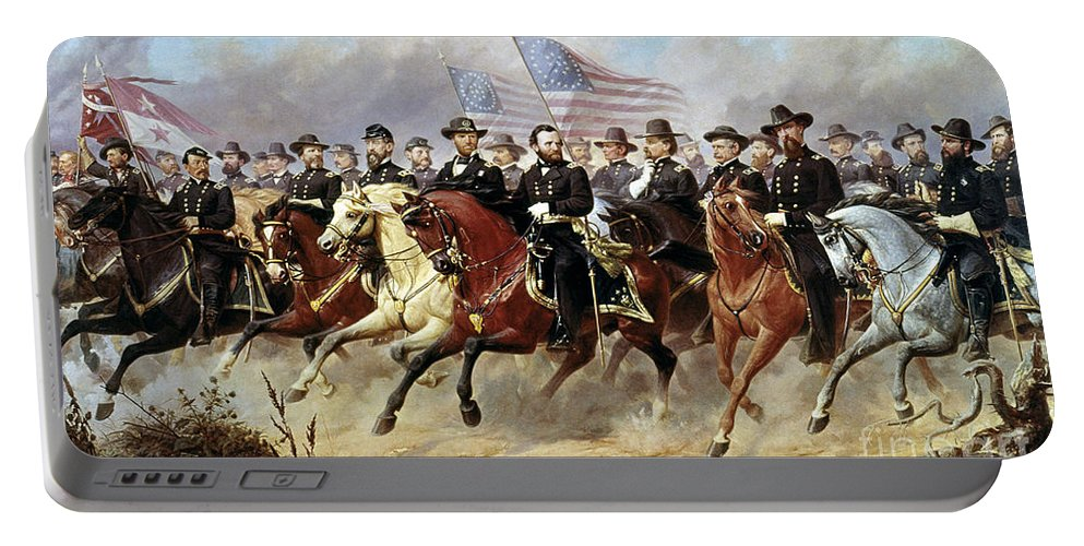 1865 Portable Battery Charger featuring the photograph Ulysses S. Grant by Granger