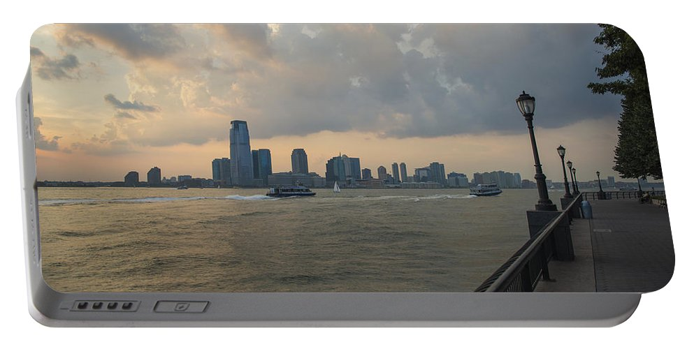 Battery Park City Portable Battery Charger featuring the photograph View From Battery Park City by Theodore Jones