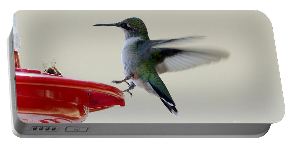 Birds Portable Battery Charger featuring the photograph Hummingbird by Lori Tordsen
