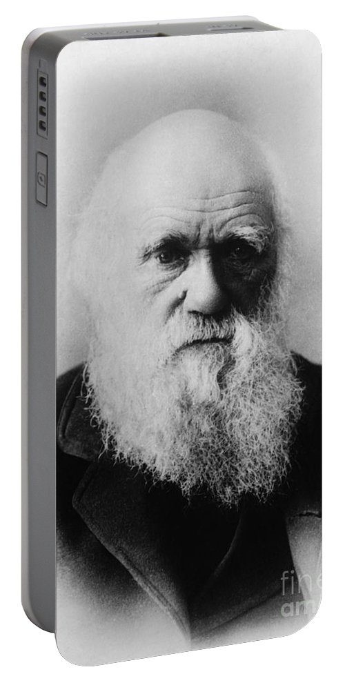 Science Portable Battery Charger featuring the photograph Charles Robert Darwin, English by Science Source