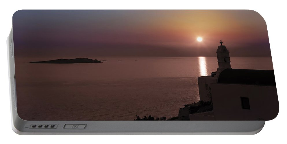 Mykonos Portable Battery Charger featuring the photograph Mykonos by Joana Kruse