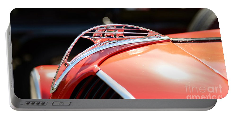 1937 Plymouth Pick Up Truck Portable Battery Charger featuring the photograph 1937 Plymouth Sailing Ship Hood Ornament by Paul Ward