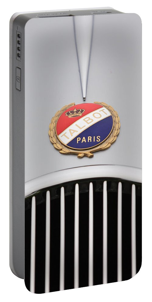 1937 Talbot-lago Portable Battery Charger featuring the photograph 1937 Talbot-lago Emblem by Jill Reger