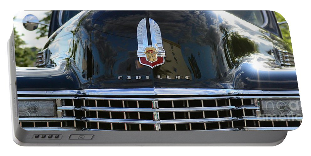 1941 Cadillac Portable Battery Charger featuring the photograph 1941 Cadillac Grill by Paul Ward