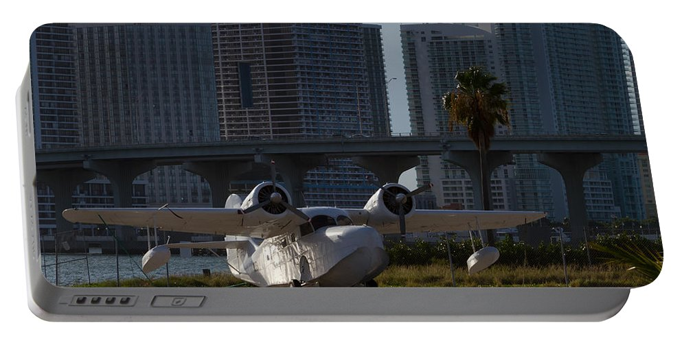 1941 Portable Battery Charger featuring the photograph 1941 Grumman Goose At Miami by Ed Gleichman