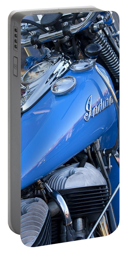 1948 Indian Chief Motorcycle Portable Battery Charger featuring the photograph 1948 Indian Chief Motorcycle by Jill Reger