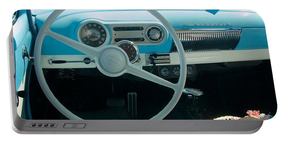 1954 Chevy Flo Abel Portable Battery Charger featuring the photograph 1954 Chevy Flo Abel by Mark Dodd