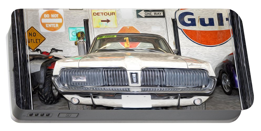 1967 Portable Battery Charger featuring the photograph 1967 Mercury Cougar by Bill Cannon