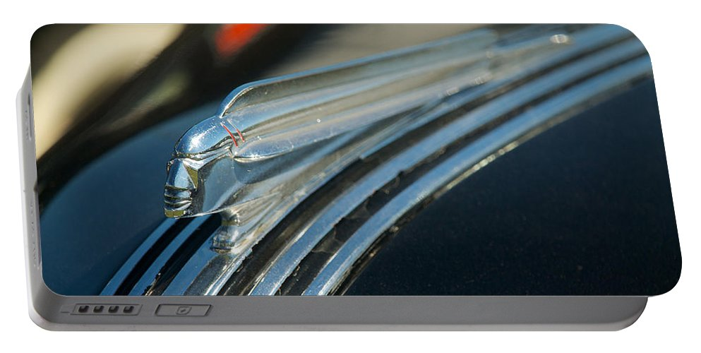 1940 Pontiac Portable Battery Charger featuring the photograph 1940 Pontiac by Mark Dodd