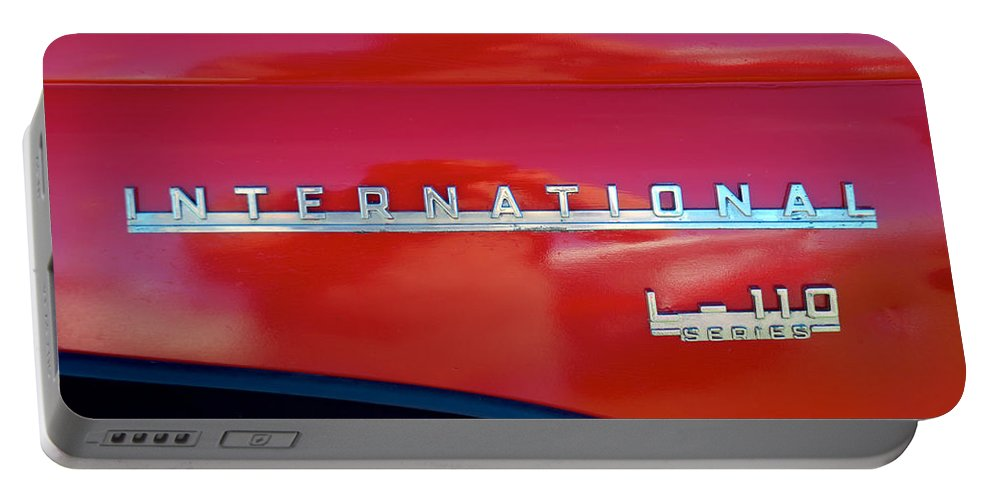 1950 Portable Battery Charger featuring the photograph 1950 International L-100 by Mark Dodd