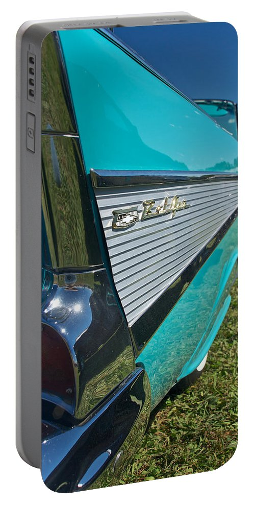 1957 Chevy Convertable Portable Battery Charger featuring the photograph 1957 Chevy Convertable by Mark Dodd