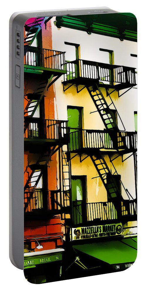 New York City Portable Battery Charger featuring the photograph Above The Market by Terry Fiala