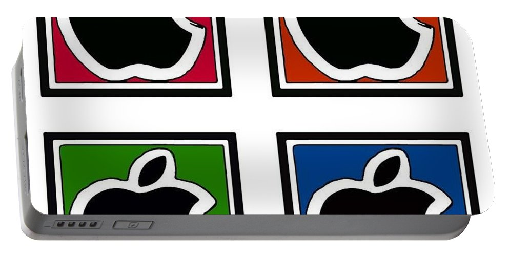 Black Apple Portable Battery Charger featuring the photograph Apple Colors by Rob Hans