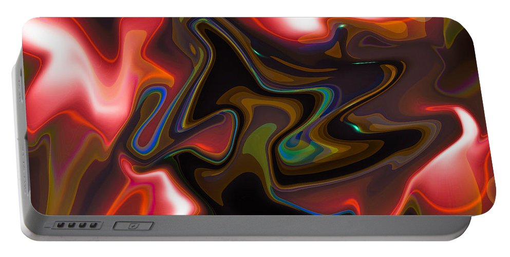 Digital Portable Battery Charger featuring the digital art Art Abstract by David Pyatt