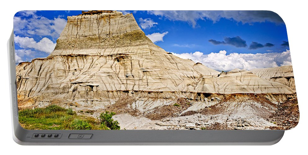 Badlands Portable Battery Charger featuring the photograph Badlands In Alberta by Elena Elisseeva