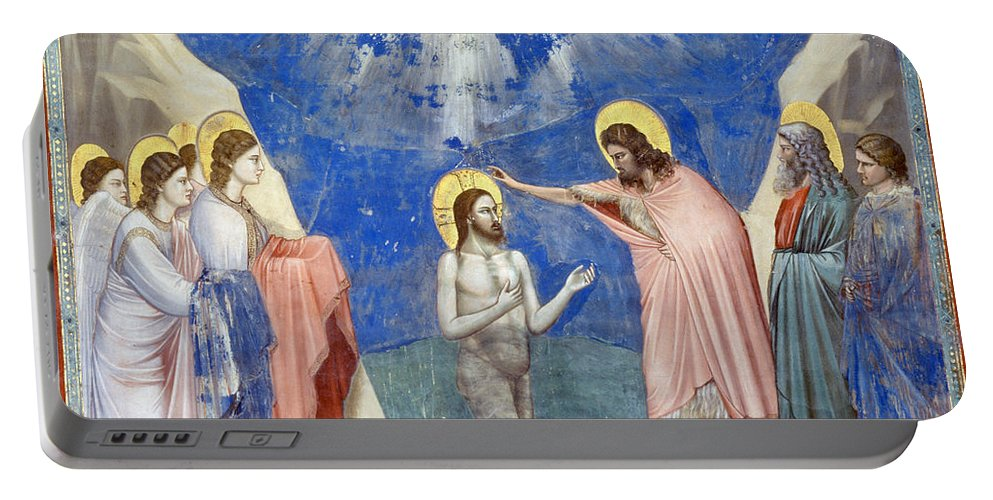1304 Portable Battery Charger featuring the photograph Baptism Of Christ by Granger
