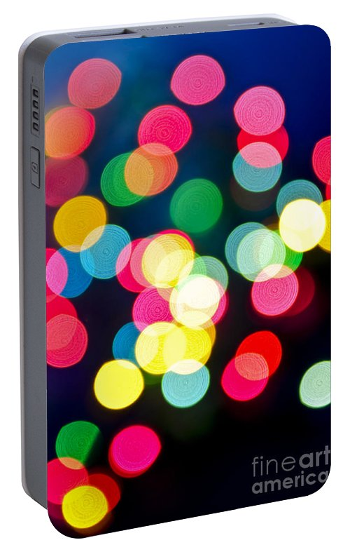 Blurred Portable Battery Charger featuring the photograph Blurred Christmas Lights by Elena Elisseeva