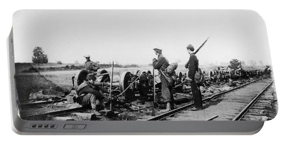 1862 Portable Battery Charger featuring the photograph Civil War: Bull Run, 1862 by Granger
