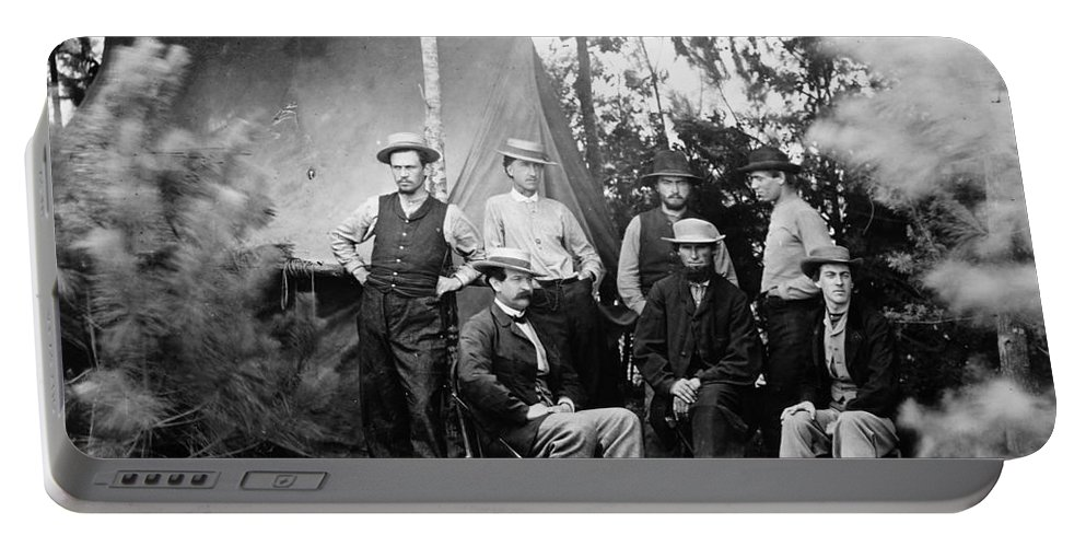 1860s Portable Battery Charger featuring the photograph Civil War: Signal Corps by Granger