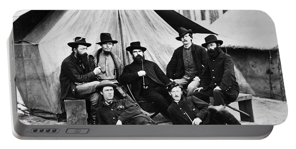 1860s Portable Battery Charger featuring the photograph Civil War: Soldiers by Granger