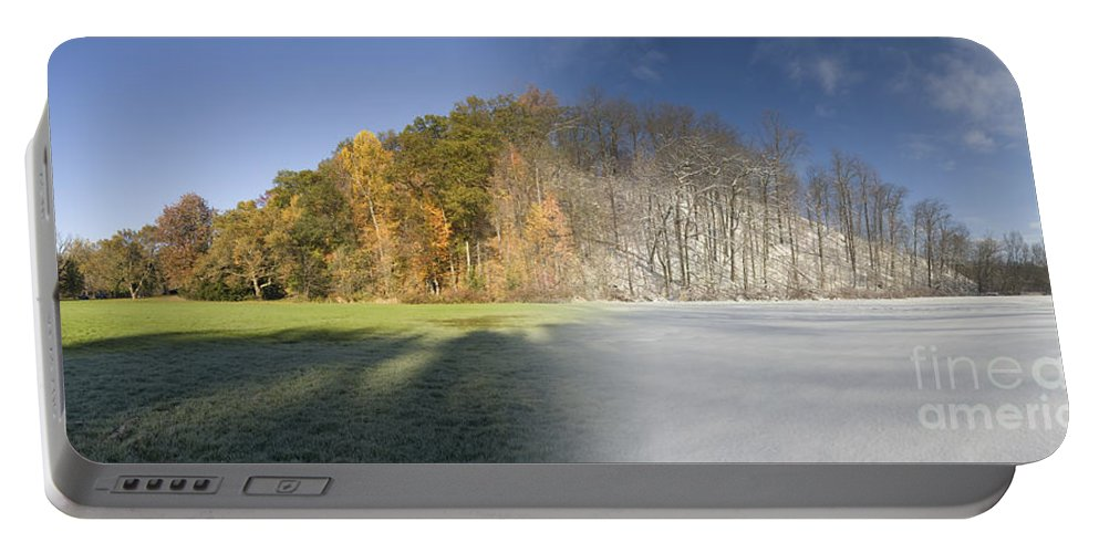 Composite Portable Battery Charger featuring the photograph Composite Of Fall And Winter by Ted Kinsman