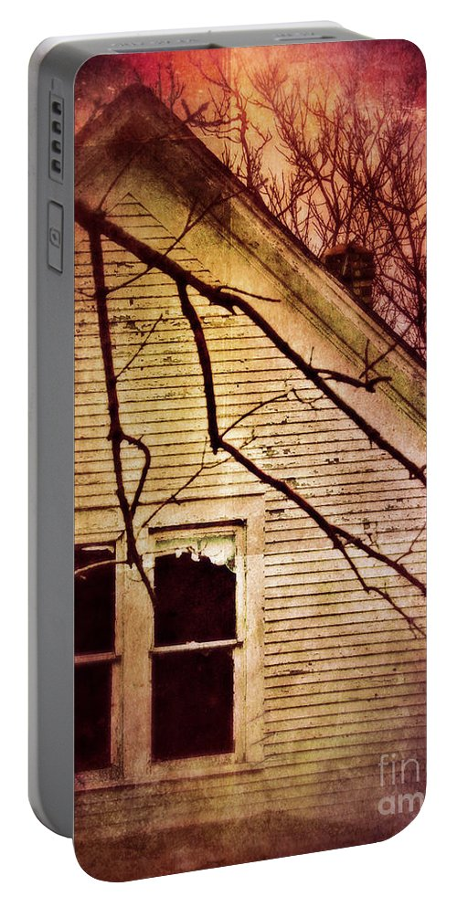 House Portable Battery Charger featuring the photograph Creepy Abandoned House by Jill Battaglia