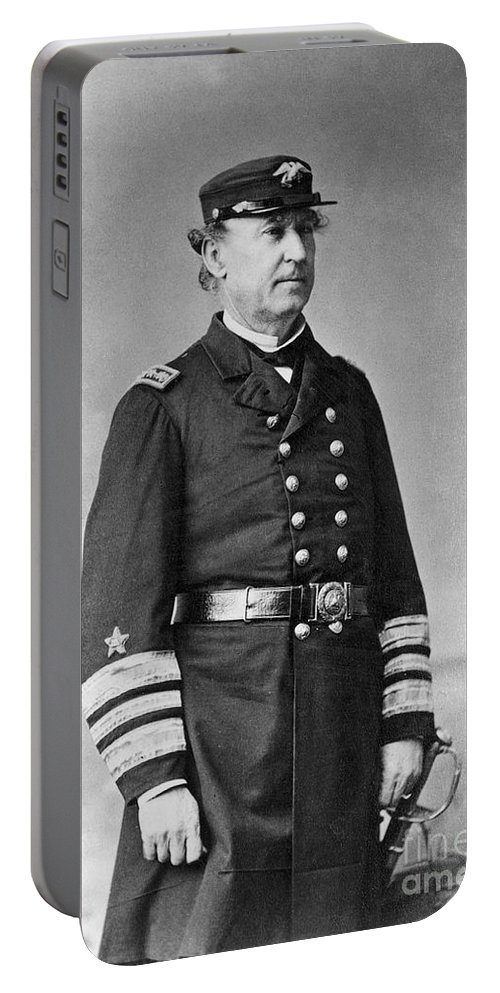 1860s Portable Battery Charger featuring the photograph David G. Farragut (1801-1870) by Granger