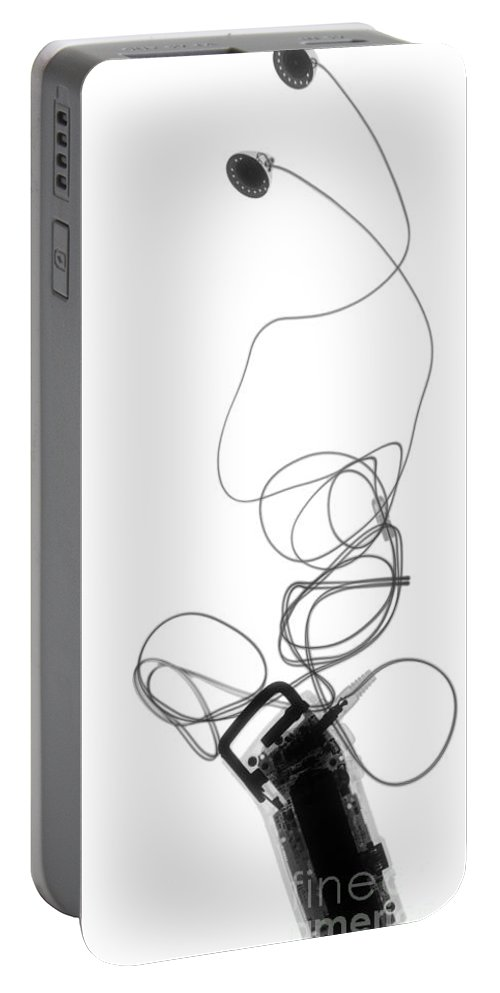 X-ray Portable Battery Charger featuring the photograph Digital Music Player Mp3 by Ted Kinsman