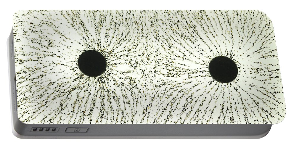 E Fields Portable Battery Charger featuring the photograph Electric Field Lines by Ted Kinsman