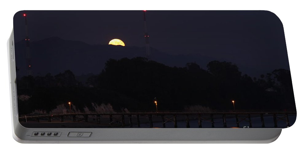 Lunar Portable Battery Charger featuring the photograph Full Moon Rise by Henrik Lehnerer