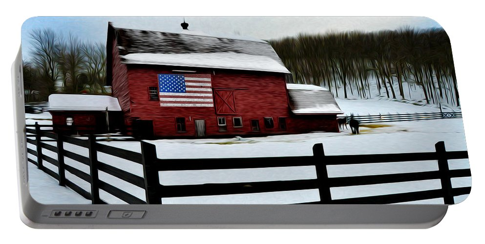God Bless America Portable Battery Charger featuring the photograph God Bless America by Bill Cannon