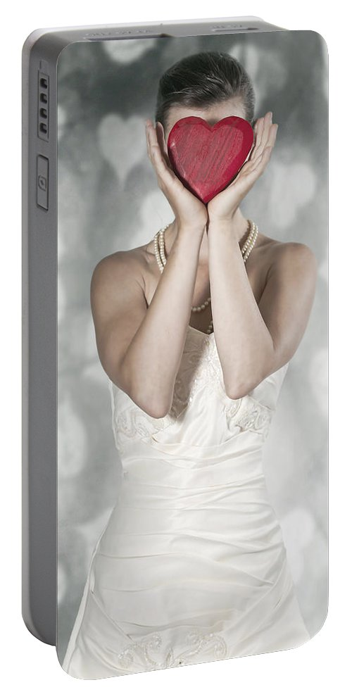 Female Portable Battery Charger featuring the photograph Heart by Joana Kruse