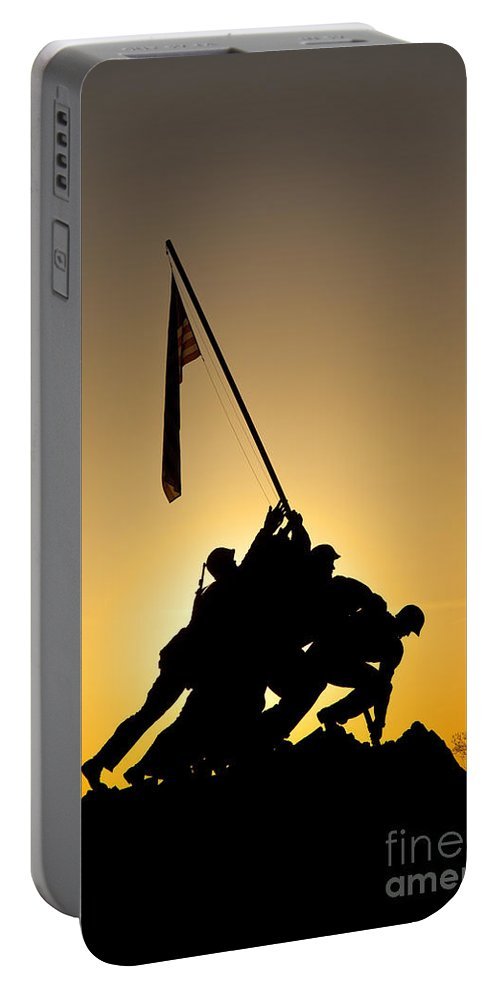 Iwo Jima Portable Battery Charger featuring the photograph Iwo Jima Memorial by Brian Jannsen