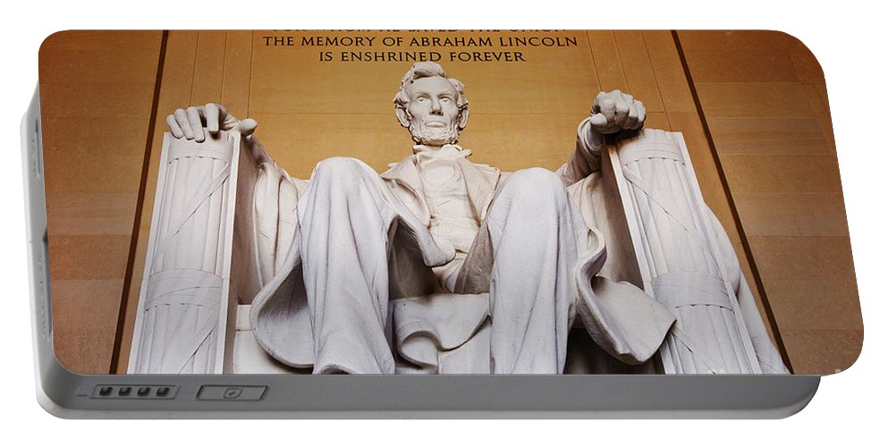 Abraham Lincoln Portable Battery Charger featuring the photograph Lincoln Memorial by Brian Jannsen