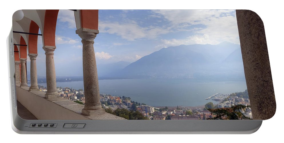 Locarno Portable Battery Charger featuring the photograph Madonna Del Sasso - Locarno by Joana Kruse