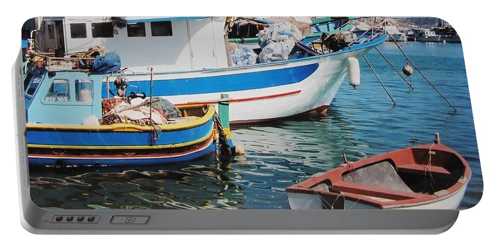 Malta Portable Battery Charger featuring the photograph Maltese Harbor by Ian MacDonald