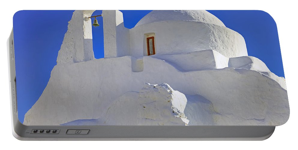 Paraportiani Portable Battery Charger featuring the photograph Mykonos by Joana Kruse