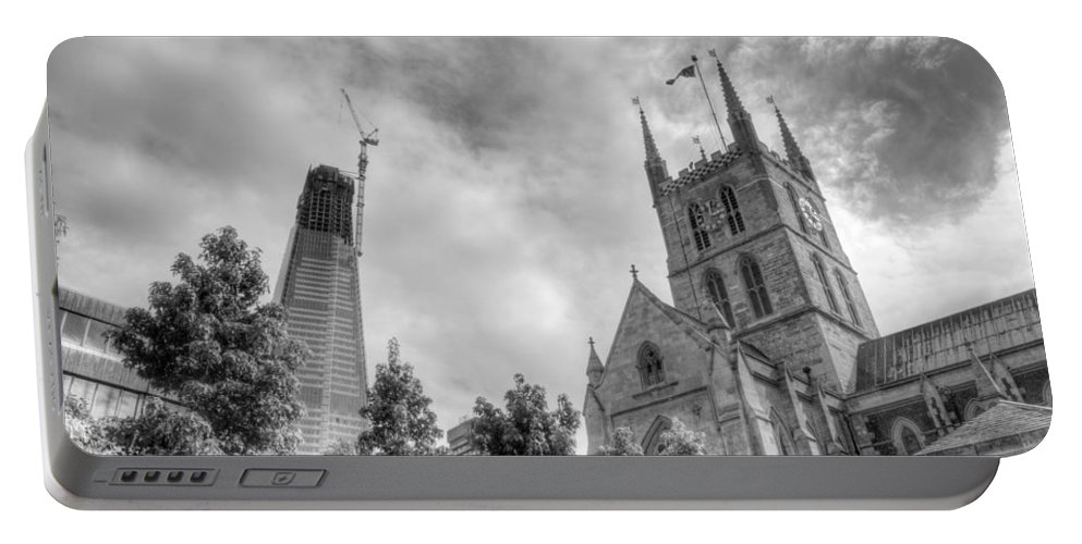 Shard Portable Battery Charger featuring the photograph New and Old by Chris Day