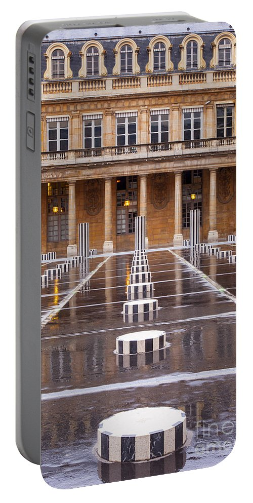 Columns Portable Battery Charger featuring the photograph Palais Royal by Brian Jannsen