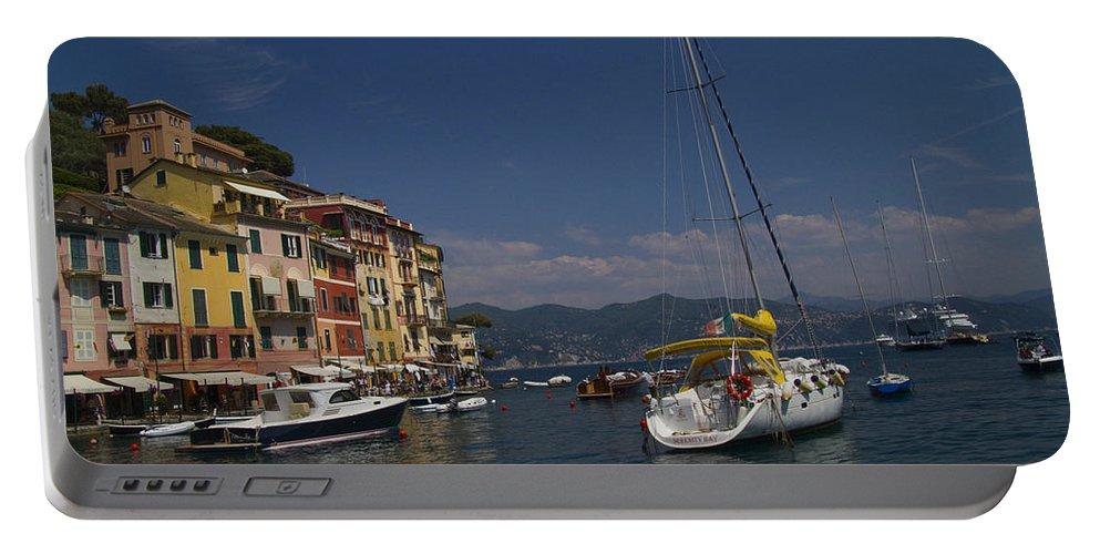 Portofino Portable Battery Charger featuring the photograph Portofino In The Italian Riviera In Liguria Italy by David Smith