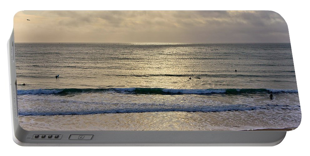 Praa Sands Cornwall Portable Battery Charger featuring the photograph Praa Sands by Brian Roscorla