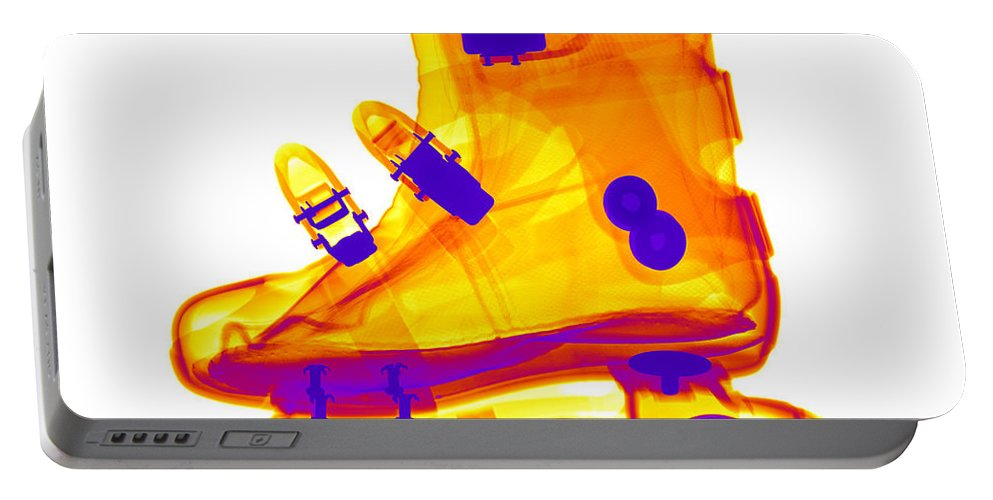 X-ray Portable Battery Charger featuring the photograph Rollerblade Boot by Ted Kinsman