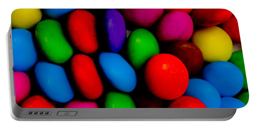 Colour Portable Battery Charger featuring the digital art Sweet Abstract by David Pyatt
