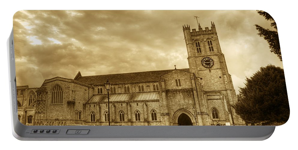 Christchurch Portable Battery Charger featuring the photograph The Priory by Chris Day