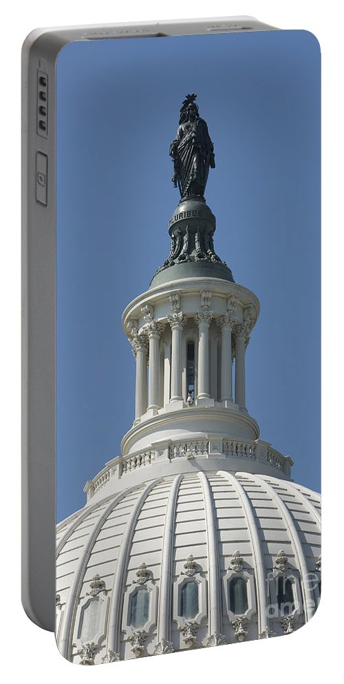 Vertical Portable Battery Charger featuring the photograph The United States Capitol Building Dome by Terry Moore