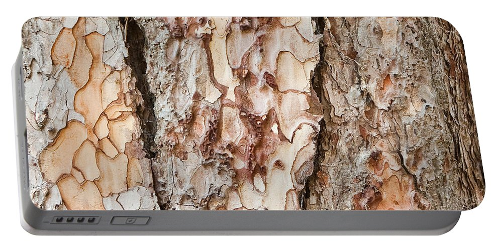 Background Portable Battery Charger featuring the photograph Tree Bark by Tom Gowanlock