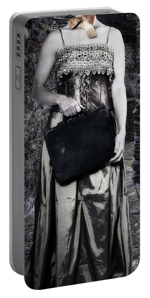Female Portable Battery Charger featuring the photograph Woman In Alley by Joana Kruse