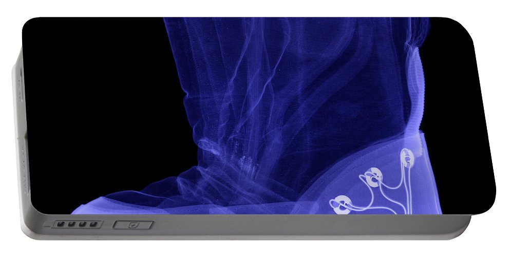X-ray Portable Battery Charger featuring the photograph X-ray Of A Childs Light-up Boot by Ted Kinsman