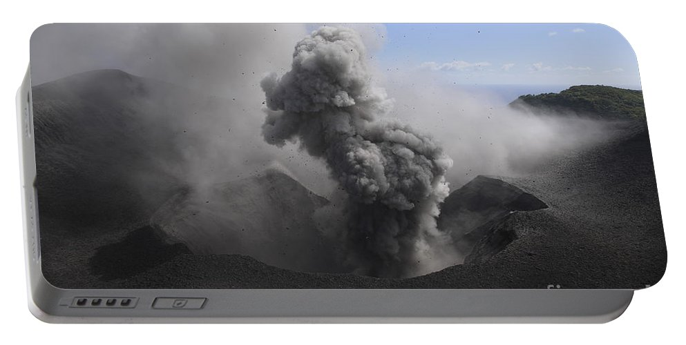 No People Portable Battery Charger featuring the photograph Yasur Eruption, Tanna Island, Vanuatu by Martin Rietze